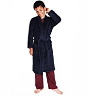 Waist Tie Fluffy Dressing Gown with StayNEW™