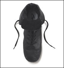 Capezio Adult Black Leather Jazz Hiphop Dance Boot CG03, 4