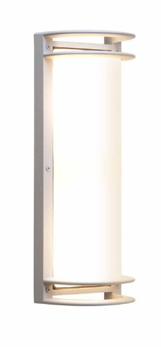 Access Lighting 20344MG-SAT/RFR Poseidon 2-Light Wet Location Open Bulkhead,  Satin with Ribbed Frosted Glass