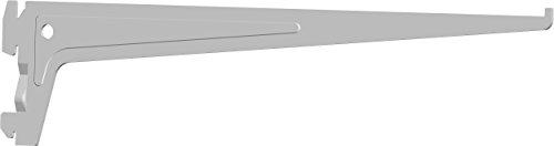 Element System PRO-Träger Regalträger 1-reihig, 2 Stück, 7 Abmessungen, 3 farben, lange 35 cm für Regalsystem, Wandschiene, weiß, 18133-00012