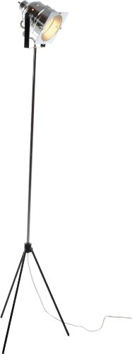 Adesso 3051-22 Spotlight Steel Floor Lamp with Tripod Base