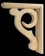 Scroll Sconce bracket, Unfinished