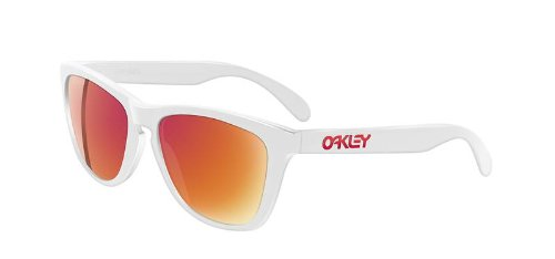 Oakley Sunglass Frogskins Polished White w/ Ruby Iridum