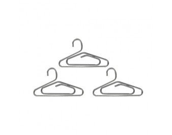 Mini Hangers 12/Pkg - Antique Silver