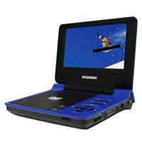 Sylvania SDVD7015-Blue 7-Inch Portable DVD Player, (Blue)