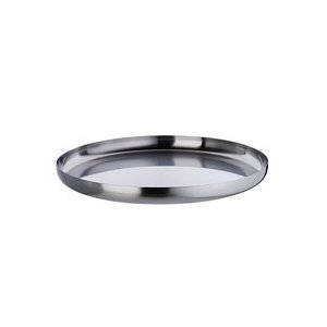 Alessi 35 cm Stainless Steel Round Tray in 18/10 Stainless Steel Mat
