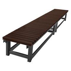 アルミデッキ 屋外用 ガーデンベンチ 【アルミぬれ縁 高さ40cm 巾60cm 長さ173cm】