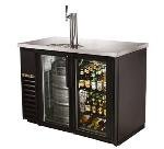 24 in Draft Beer Cooler, 1 Faucet, 2 Shelves/Glass Doors, Holds (2) 1/2 Keg