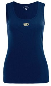 Pittsburgh Panthers NCAA Fan Tank Ladies Tank Top (Navy) by Antigua
