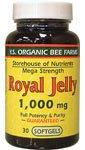 YS Organic Bee Farms Royal Jelly -- 1000 mg - 30 Softgels