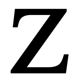 Village Wrought Iron LET-Z House Plaque Letter Z - Black