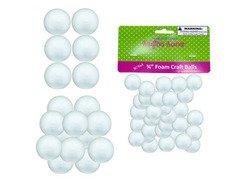 Small Foam Craft Balls ( Case of 12 ) (Kids Manikin Head compare prices)
