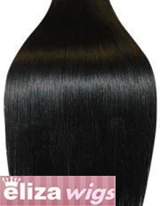 20 inch JET BLACK (Col 1). Full Head Clip in Human Hair Extensions. High quality Remy Hair!. 100g Weight