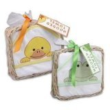 Hoodie Bath Towels By Peaches & Pumpkins (Yellow / Orange Duck) - 1