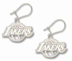 Los Angeles Lakers Sterling Silver Dangle Earrings