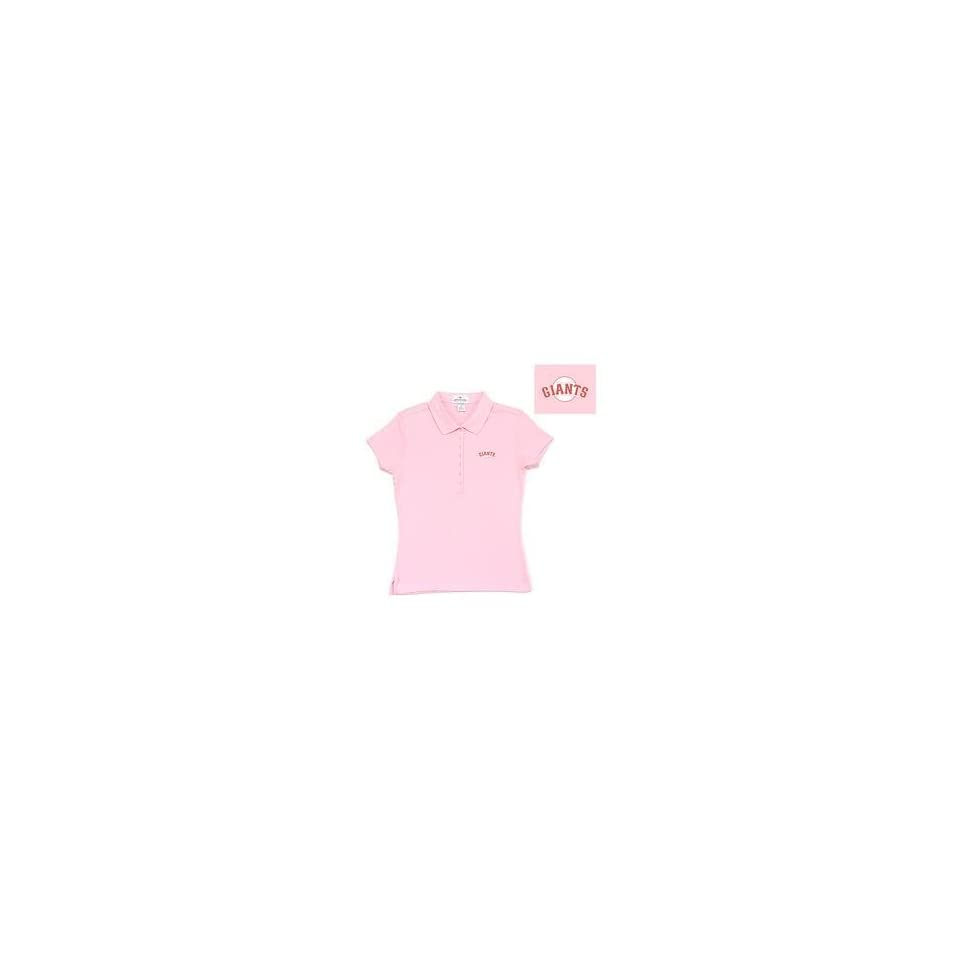San Francisco Giants Womens Remarkable Polo by Antigua Sport   Pink Large