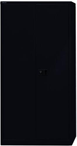 BISLEY-Flgeltrenschrank-Werkzeugschrank-Aktenschrank-mit-4-Bden-Schwarz