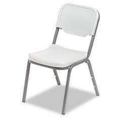 * Rough N Ready Original Stack Chair, Resin, Platinum/Gray, 4/Carton front-325272
