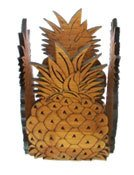 Hawaii Bamboo Candle Holder Pineapple