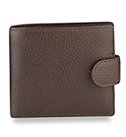 Luxury Leather Hip Coin ID Tab Wallet