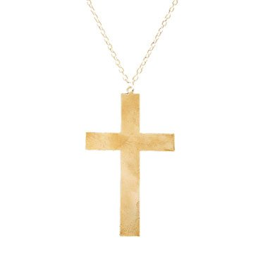 "4"" Gold Cross with Chain Costume Accessory"