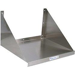 "Stainless Steel Kitchen Microwave Wall Shelf: 30""W"