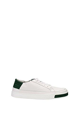 Sneakers Gucci Uomo Pelle Bianco, Verde e Rosso 368421AYOU09067 Bianco 42.5EU