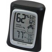 Chaney Instruments - Home Comfort Monitor - Combination Thermometer and Humidity Sensor with Daily High/low (Black)