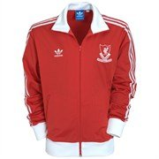 adidas Originals Liverpool FC Track Top – Light Scarlet/White – Large 42″-44″ Chest