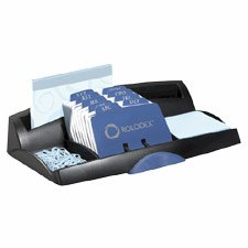 Buy Desktop Card File and Organizer Combo, Holds 250 2-1/4″x4″ Address Cards, Black ROL67125