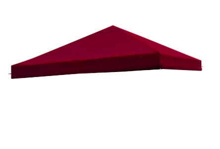 Red Single Tier Patio Sun Shade 10x10 Ft Garden Canopy Gazebo Replacement Top One Tier Outdoor Patio Yard Party UV Protection Sun Block Shade Poly-vinyl Fabric 121 x 121 In. Tent