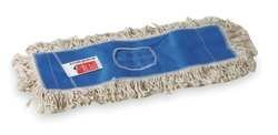 Tough Guy 1TZC8 Dust Mop, Cut End, Sz 18 In, White/Blue