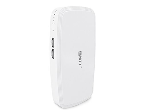 MTT Airpower 13i High Capacity Dual USB Port 13000 MAh Powerbank (White)