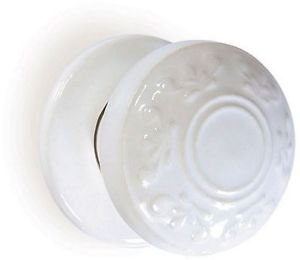 Boston Motif Porcelain Mortice Door Knob - White by New A-Brend