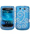 2169%2BgisbSL. SL160  Blackberry Torch 9800 Flourish Diamante Diamond Studded Snap on Cover / Shield Protector Case