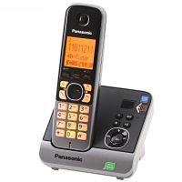 Panasonic Schnurlostelefon mit AB KX-TG6721GB schwarz, 1,8 Zoll Displ., Smart-Taste für schnelle Rufannahme, vollwertiger Wecker, Nachtmodus + AB mit 30 Min Aufnahmezeit + Smart-Taste für schnelle