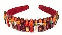 Worry Doll Headband - Wine - 1