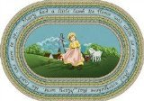 "Joy Carpets Kid Essentials Infants & Toddlers Oval Mary's Lamb Rug, Multicolored, 5'4"" x 7'8"""