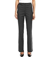 M&S Collection New Wool Blend Luxury Welt Pocket Flannel Trousers