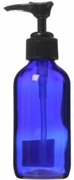 青色ガラスポンプ瓶