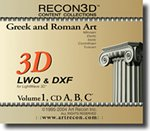 RECON3D Vol.1 Greek and Roman Art, 3D Content Collection (LWO , DXF Formats)