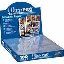 Coupon Clipper Special !! 100 Ultra Pro 9-Pocket Storage Sheets + 3 Ring Album - Great For Extreme Couponing & Coupon Clubs !!