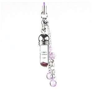Gem Art (Gemalto) ampoule birth stone mobile strap January Garnet.