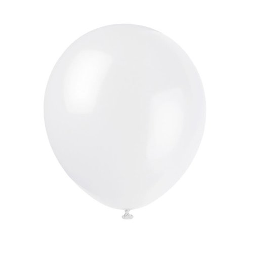 "12"" White Balloons 15ct - 1"