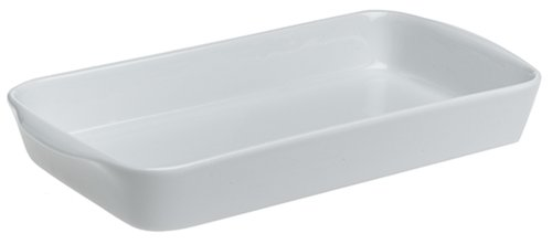 Pillivuyt Porcelain Medium 1-1/2-Quart, 11-1/2-by-6-1/2-Inch Rectangular Baker