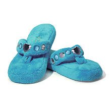 Three Cheers 4 Girls Bejeweled Slippers, Turquoise three cheers for women