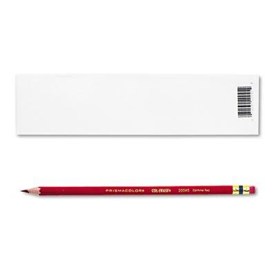 Sanford 20045 Col-Erase Pencil W/Eraser Carmine Red Lead/Barrel Dozen