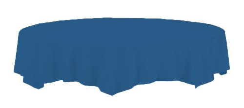 Creative Converting Touch of Color Octy-Round Paper Table Cover, 82-Inch, Navy
