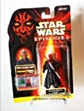 Star Wars Episode 1 CommTech 4 Inch Tall Action Figure - DARTH MAUL (Jedi Duel) with Double Bladed Lightsaber Plus CommTech Chip