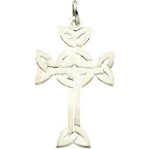 31.25X20.00 Mm Sterling Silver Celtic Design Cross